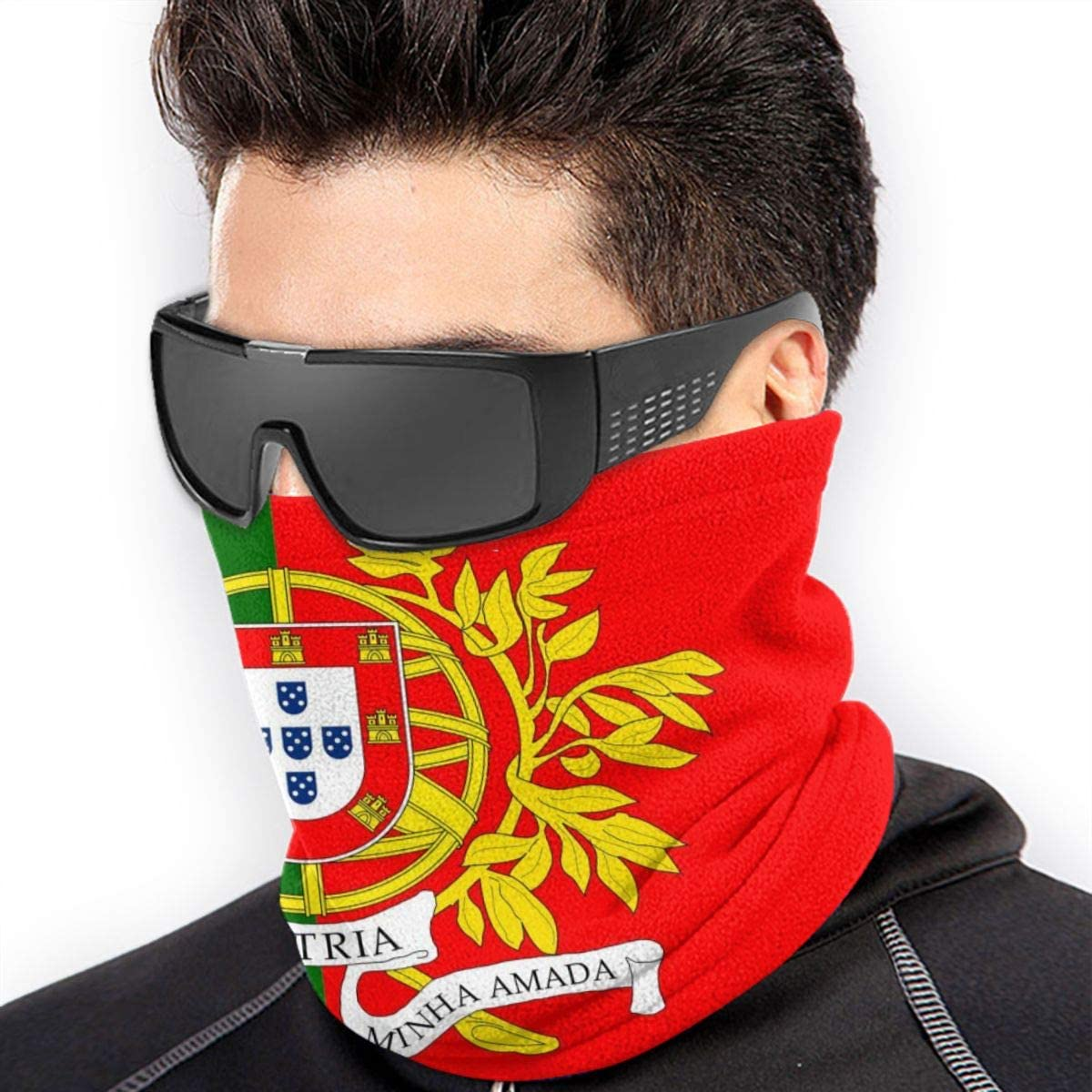 Fleece Neck Warmer Gaiter Tube Flag Of The Portuguese State Ear Warmer Headband For Women Men
