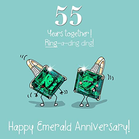 Th Wedding Anniversary Greetings Card Emerald Anniversary