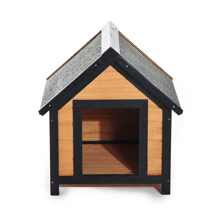 HOMCOM® Caseta Perro casa Perros Cueva cabaña para Perros Madera de Abeto (modell1): Amazon.es: Hogar