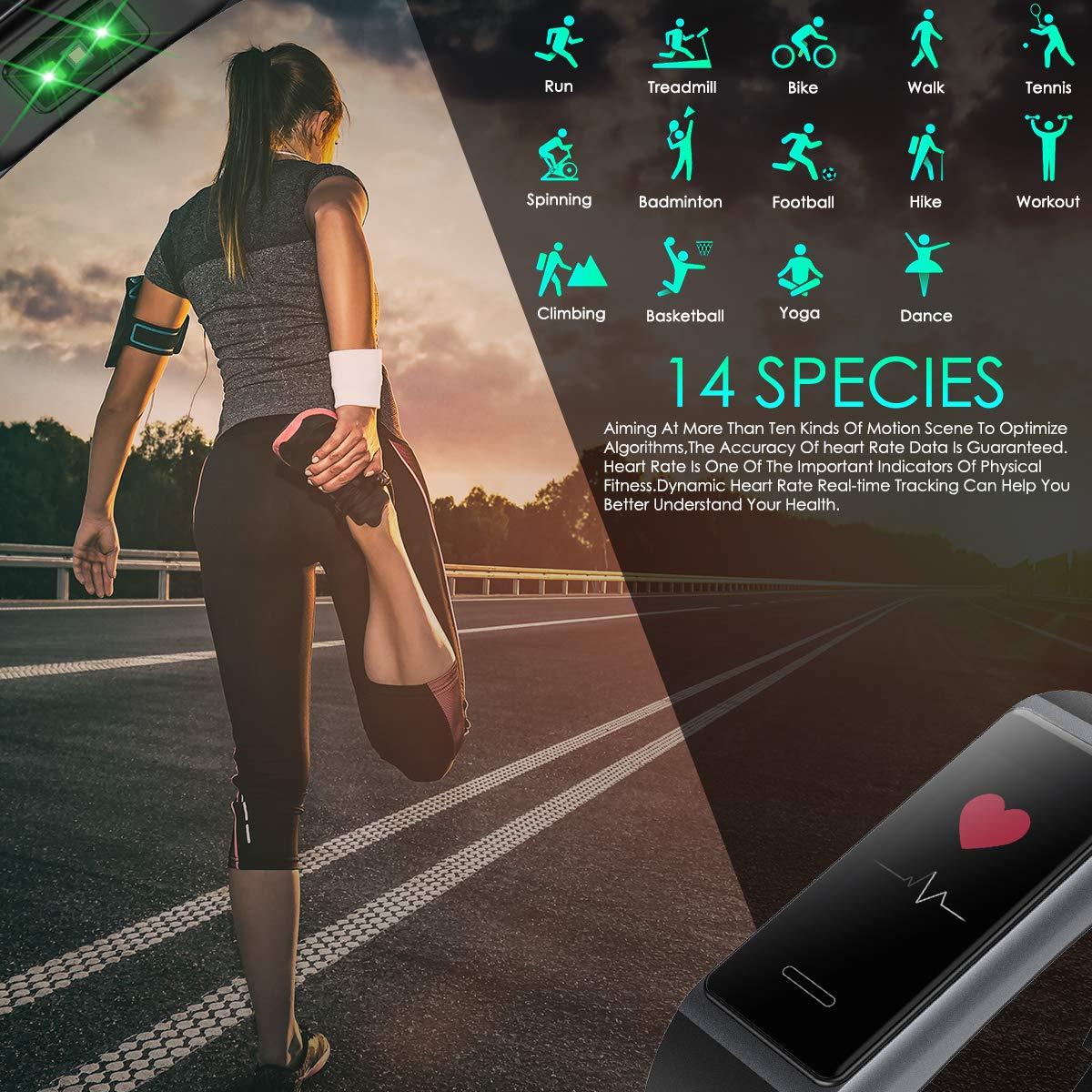 HOMVILLA Fitness Tracker, Smartwatch Activity Tracker Sports Smart Band Impermeabile IP68 Polsino Bluetooth con Monitor della frequenza cardiaca Pedometro Monitor del Sonno Caloria per iOS Android