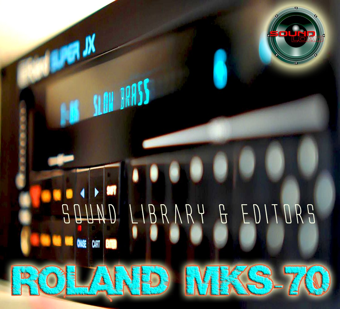 for ROLAND MKS-70 Original Factory & NEW Created Sound Library & Editors on CD or download