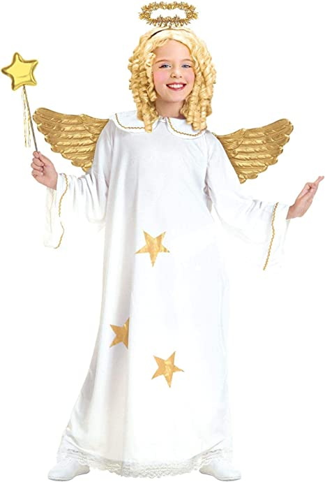 WIDMANN 38186 - Disfraz de ángel para niño (talla 128): Amazon.es ...