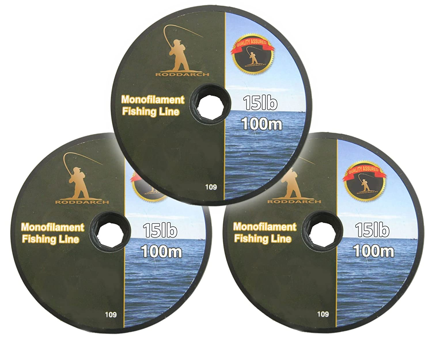 3 x 100m Fishing Line. Coarse, Sea, Game or Boat Angling. Choose 7lb or 15lb Line Strength. Roddarch