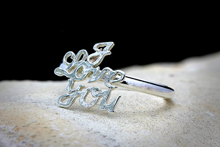 I Love You Ringlove Ringgirlfriend Giftromantic Giftbirthday Gift