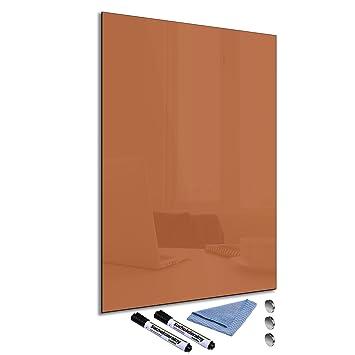FTB Pizarra magnética de cristal 40 x 60 cm Whiteboard pared ...