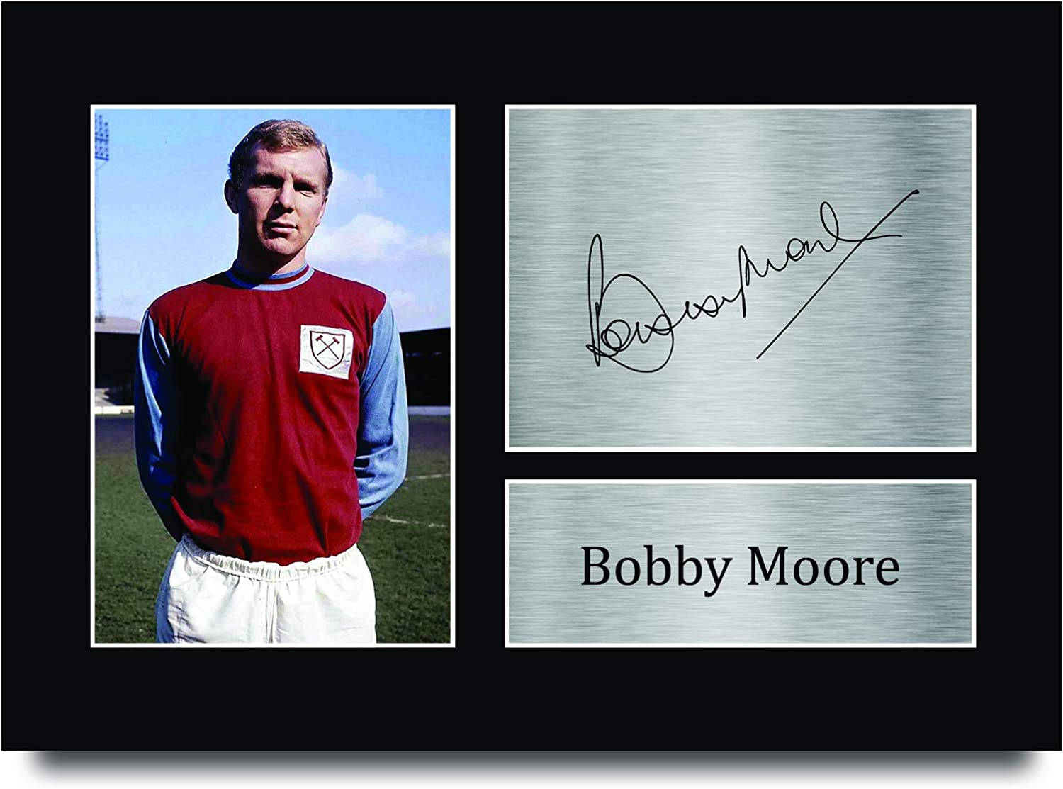 HWC Trading A4 Bobby Moore West Ham United The Hammers Gifts Printed Signed Autograph Picture for Fans and Supporters A4