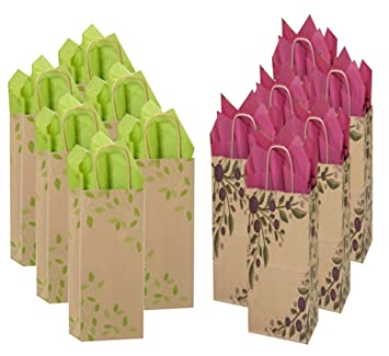 amazon com tuscan ivy wine liquor bottle gift bags bulk set of