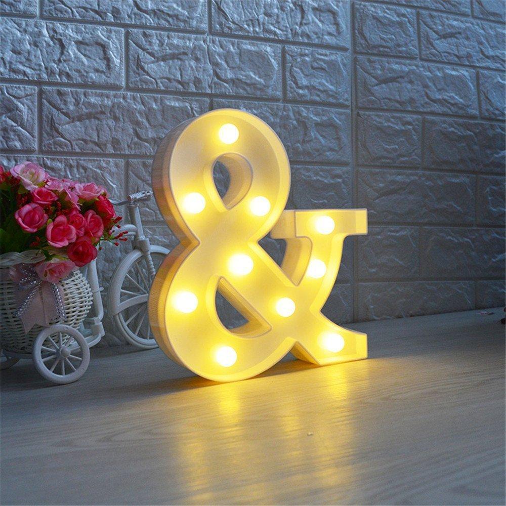 L Missley Letras del LED letras blancas del alfabeto LED decorativo para la decoraci/ón de la boda del partido