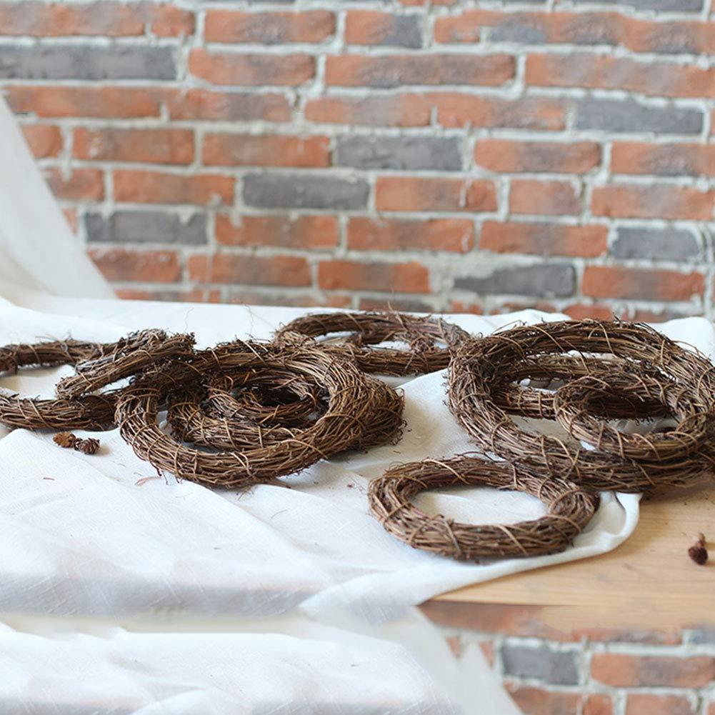 10cm SUNERLORY Guirnalda de Mimbre Guirnalda Colgante Guirnalda de rat/án 10//20 30cm Banquete de Boda