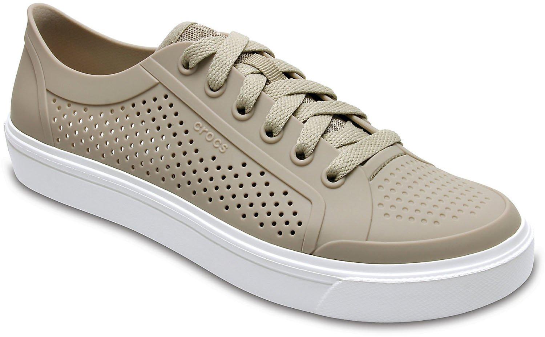 Crocs 204884-2V3 : Womens Citi Lane Roka Court Clog Shoes Cobblestone (8 B(M) US Women)