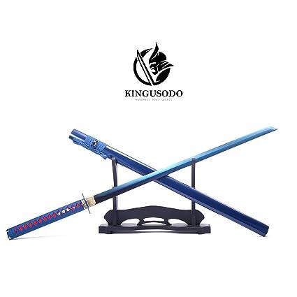 Amazon.com: KINGUSODO Espada Ninja, hecha a mano 1095 acero ...