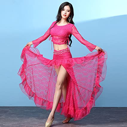 Amazon.com: Xueyanwei Professional Lady Belly Dance Costumes ...