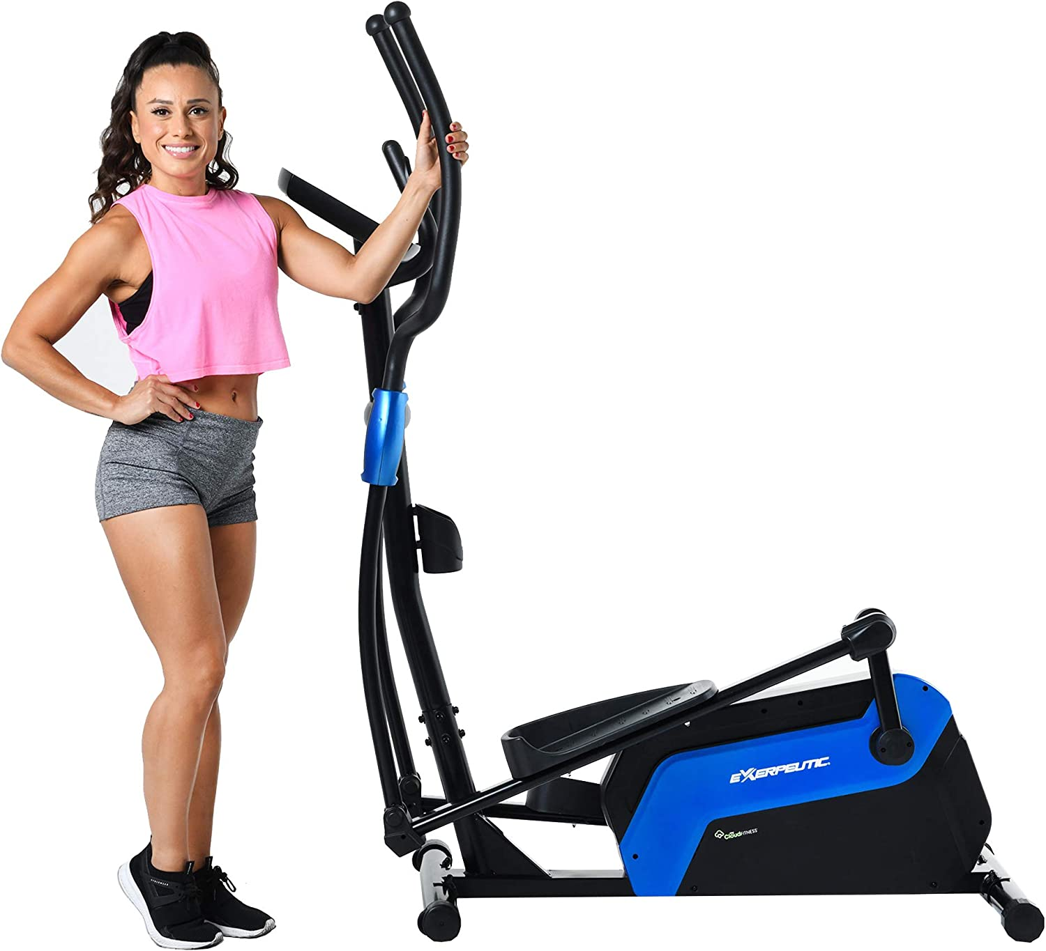 Exerputic 6000 QF Magnetic Elliptical with Bluetooth MyCloudFitness App