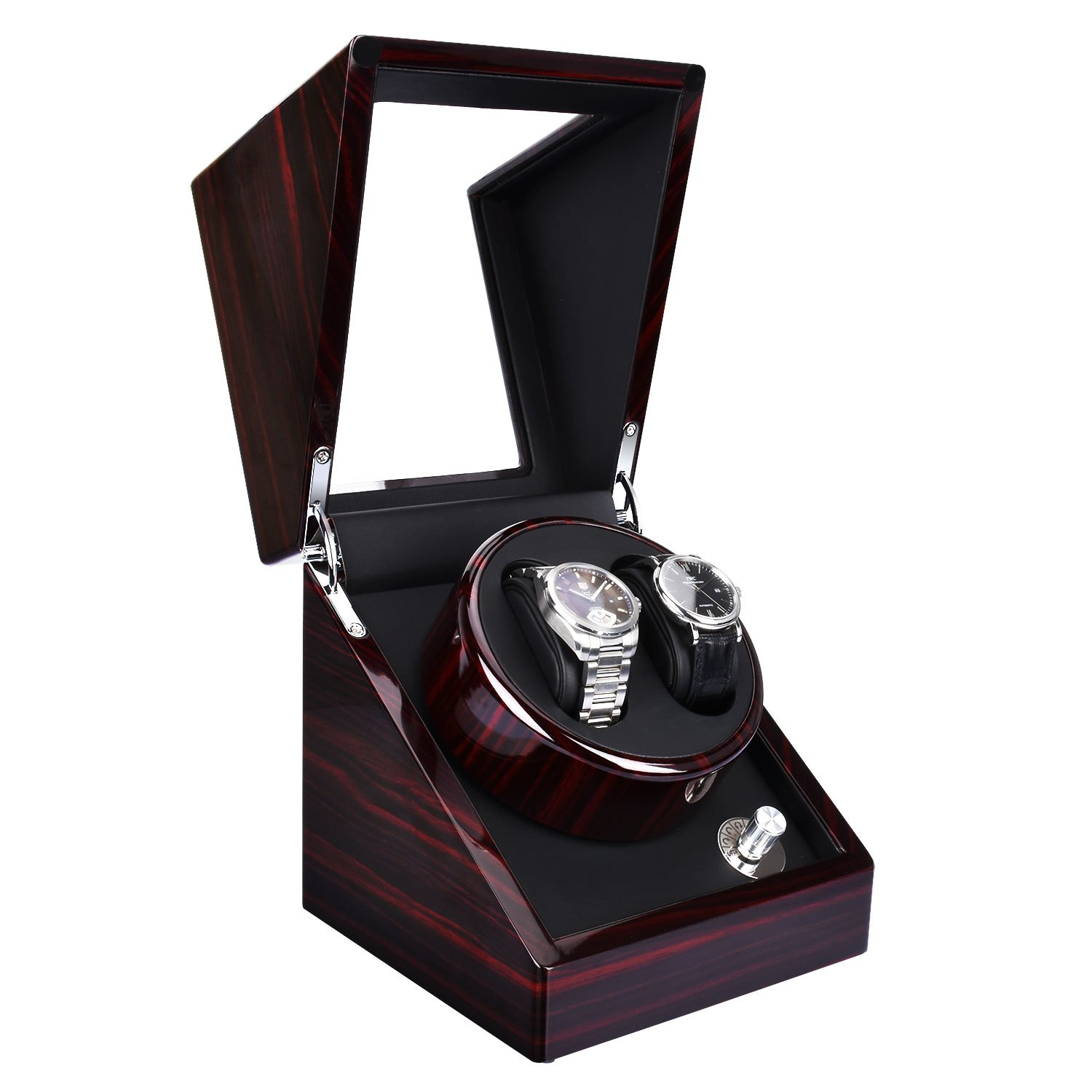 Zeiger Double Watch Winder for Large Watch Box Case Quiet Automatic Japanese Mabuchi Motor Piano Paint
