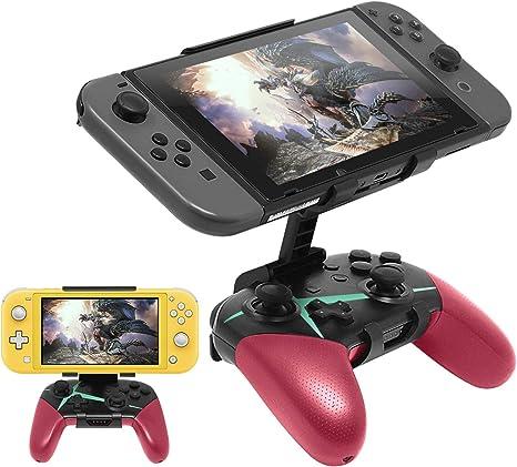 Compatible con Nintendo Switch Pro Controller Mount Clip, soporte plegable Game Clip para Nintendo Switch/Nintendo Switch Lite: Amazon.es: Videojuegos