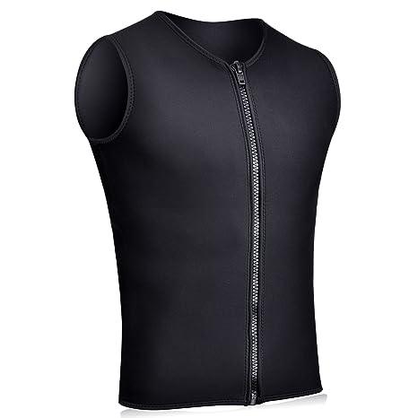 9f507329ca255 Realon Wetsuits Vest Mens Top Premium Shirt Neoprene 3mm Sleeveless Front  Zipper Sports XSPAN for Scuba