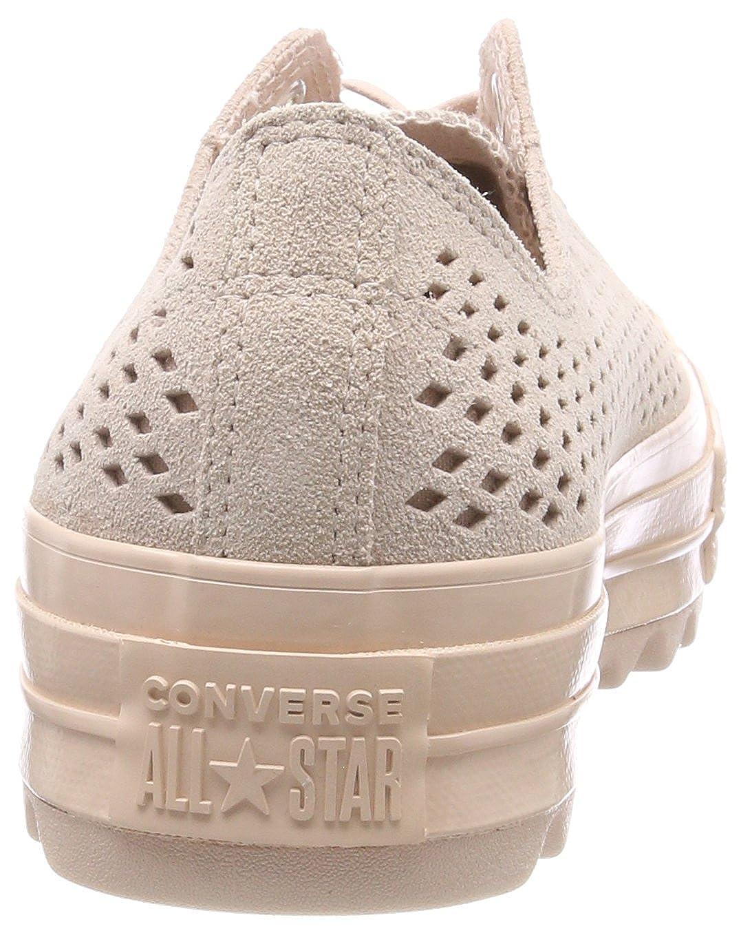 Converse Ctas Lift Ripple Ox Ox Ox Particle Beige, scarpe da ginnastica Donna dccc3c