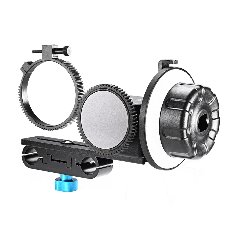 Neewer® Follow-Focus CN-90F With Gear Ring Belt for HDSLR Cameras of 63mm-103mm Lens Diameter 10069149