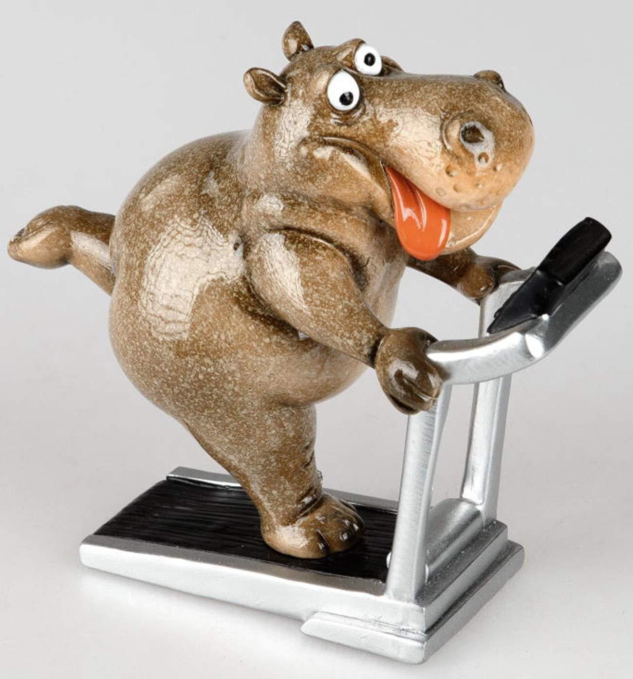dekojohnson - Figura Decorativa Divertida de hipopótamo (18 x 16 x ...