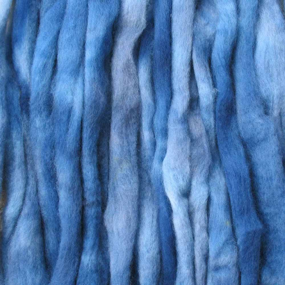 Wool Roving Craft Fiber. Hand Dyed Soft BFL Wool Top. Pre-drafted for easy Hand Spinning, Needle Felting, Wet Felting, Weaving, Embellishments, and Felted Soap. 1 Ounce, Gun Metal Living Dreams Yarn 4336907088