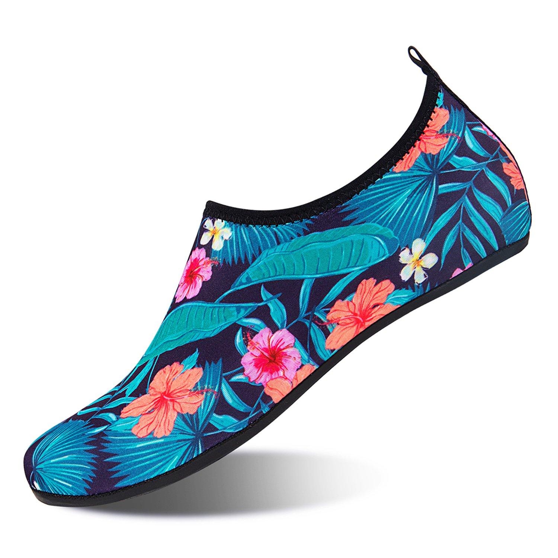 NINGMENG Aqua Socks Beach Water Shoes Barefoot Yoga Socks Quick-Dry Surf Swim Shoes for Women Men (Forest, 38/39EU)