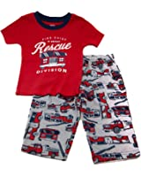 Carters Boys Rescue Division Firetruck PJ Set Red