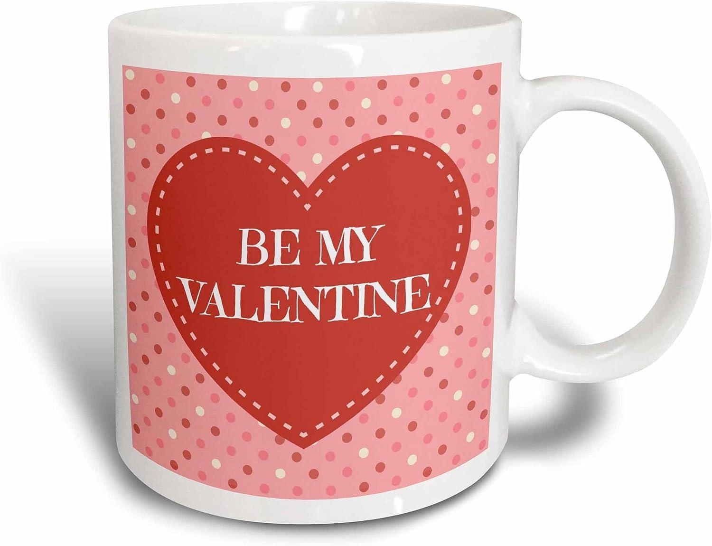 amazon com 3drose be my valentine polka dot design background ceramic mug 15 oz white kitchen dining amazon com