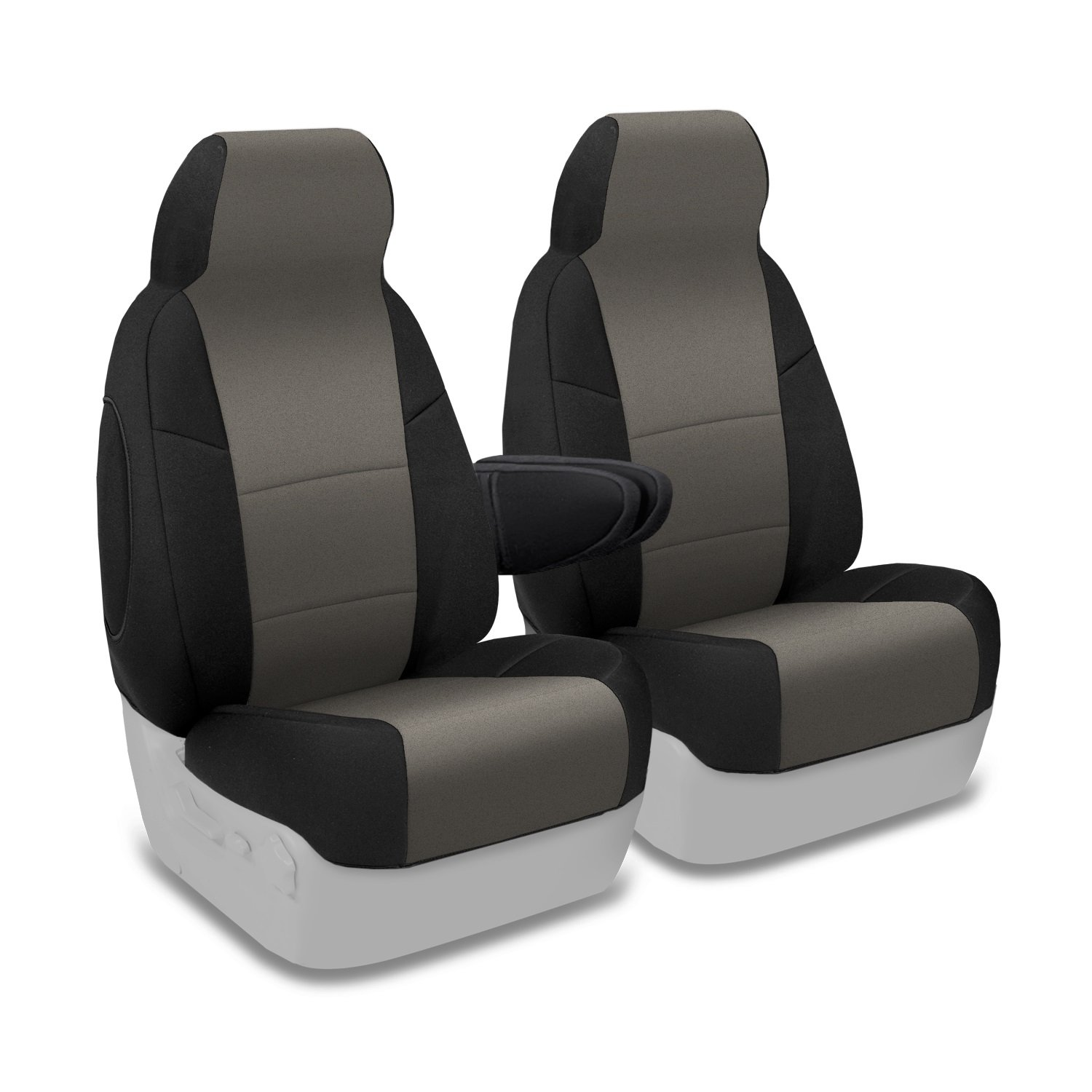 Blue with Black Sides Coverking Custom Fit Front 50//50 Bucket Seat Cover for Select Chevrolet Tahoe Models Neosupreme