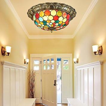 Tiffany Lámpara de techo Lámpara de techo estilo Tiffany ...