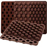 Nicunom 9 Pack Mini Coffee Beans Chocolate Mold, 55-Cavity Silicone Candy Mold, Small Baking Mold DIY for Making Chocolate, H