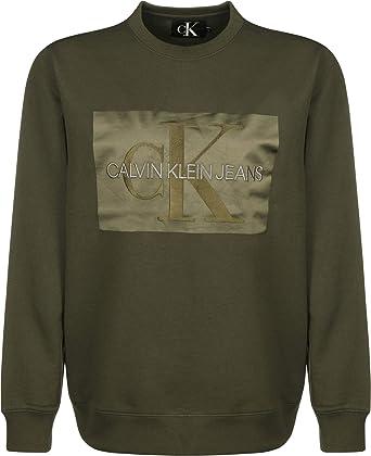 Calvin Klein Jeans Outlined Monogram Sudadera: Amazon.es: Ropa y accesorios