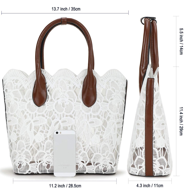 Amazon.com: Bolso de mano para mujer de encaje con tela de ...