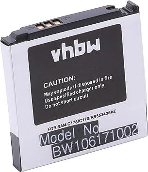 vhbw Batería Li-Ion 600mAh (3.7V) para Smartphone Samsung SGH-C170 ...