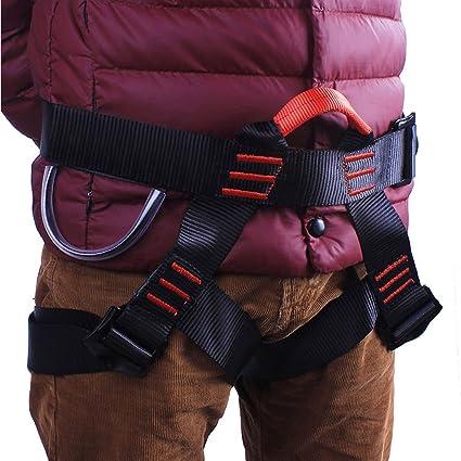 Kurun - Cinturón de Seguridad con Arnés de Escalada para montañismo, Rescate al Fuego, Escalada, Gimnasio, Repelente de Gimnasio, para Mujeres, ...
