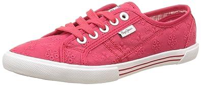 London, Sneakers Basses Femme, Rouge (Colorado), 38 (EU)Pepe Jeans London