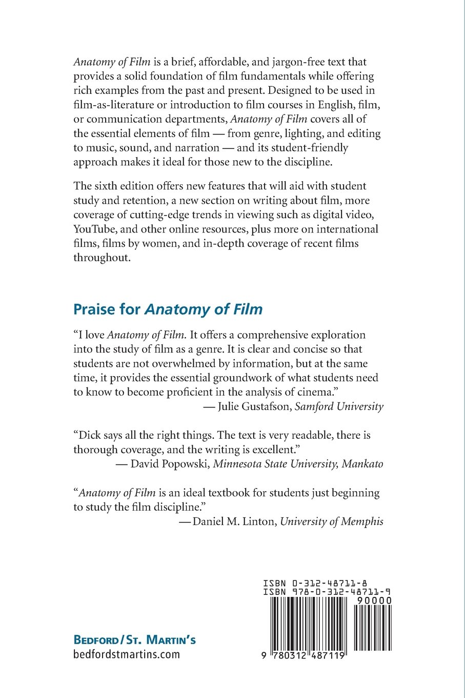 Buy Anatomy of Film, 6e Book Online at Low Prices in India | Anatomy ...