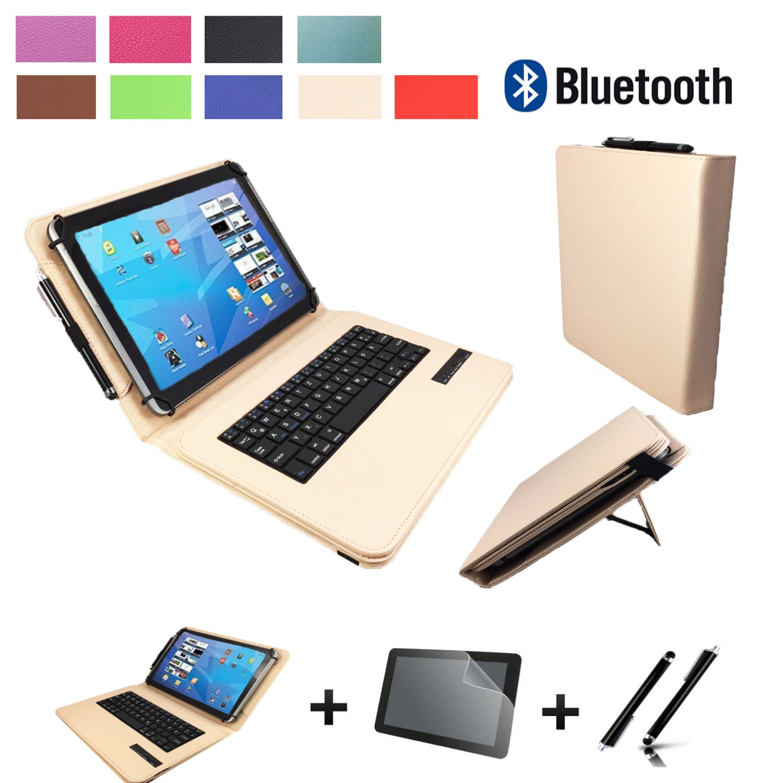 b4614c5cda1 Set de accesorios 3 en 1 para Samsung Galaxy Tab a 2016 T580 Bluetooth  Teclado Funda   - folie  Touch Pen   10.1 pulgadas Beige Bluetooth 3 en 1:  Amazon.es: ...