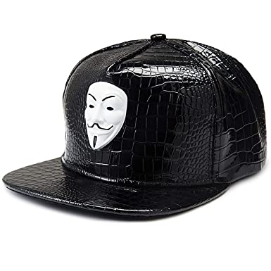 Eric Carl Punk Hip Hop Snapback Caps V for Vendetta Baseball Caps Black Hats Straight Brim Street Bboy Rapper Dancer at Amazon Mens Clothing store: