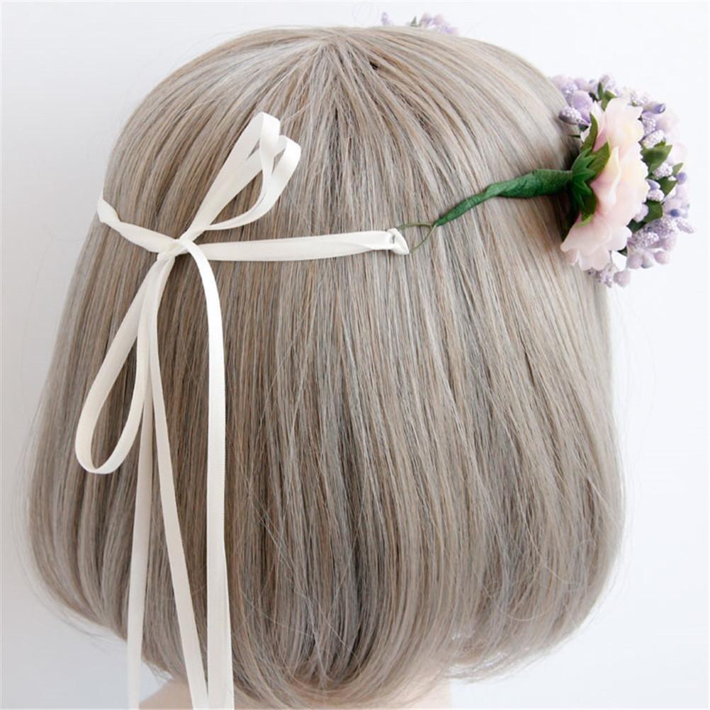 GCF® Garland Flower Bridal Wreath Artificial Flower Head Wreath For Hair Floral Bridal Hair Accessory Wedding Flower Headpiece: Amazon.co.uk: Kitchen & Home