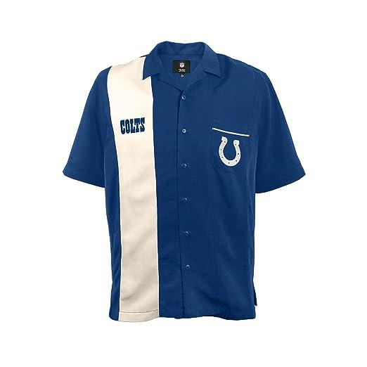 4260f58c9e9 Amazon.com : NFL Indianapolis Colts Strike Bowling Shirt, Small : Clothing
