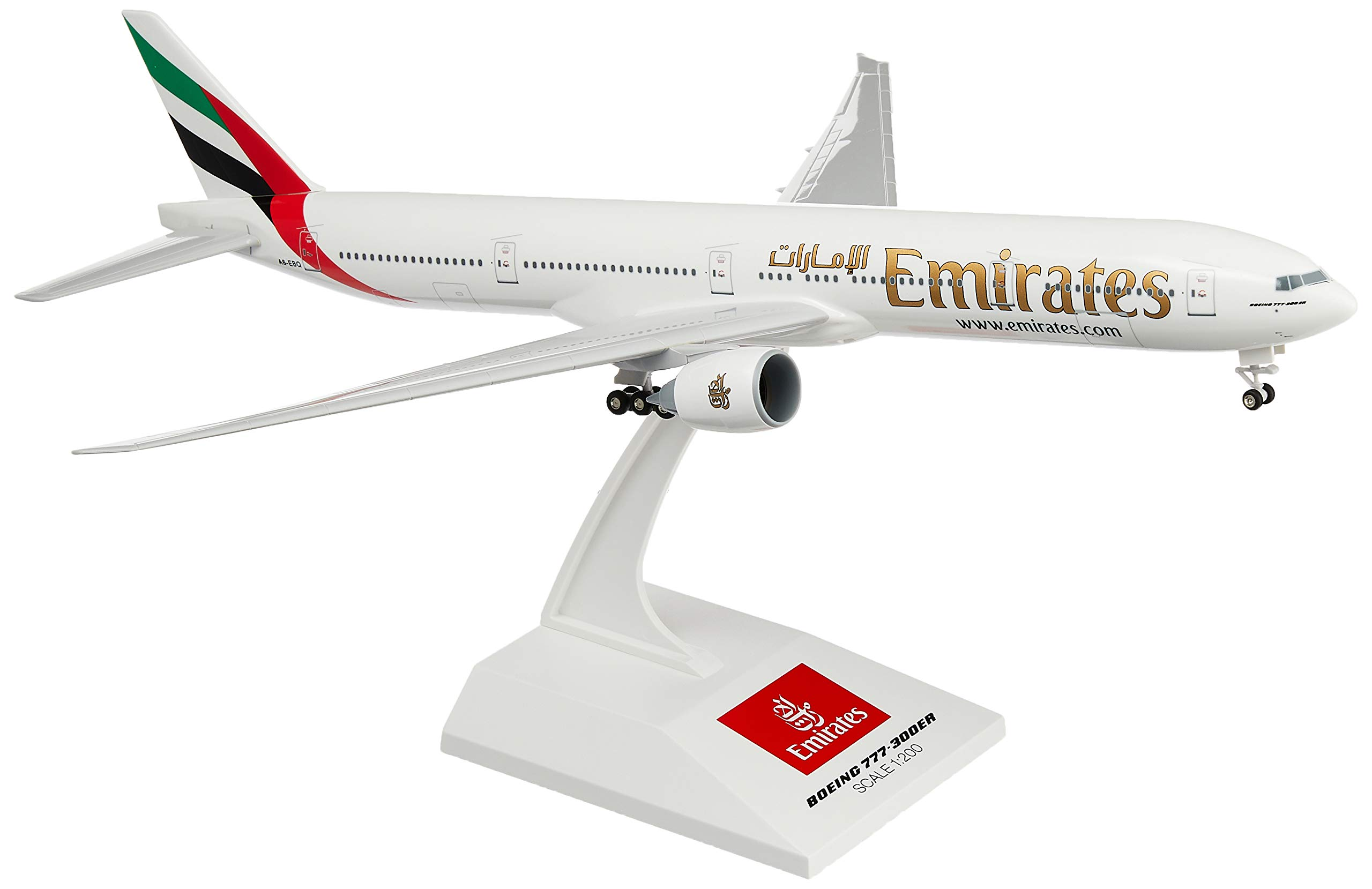 Daron Skymarks Emirates 777-300ER Airplane Model Building Kit with Gear, 1/200-Scale