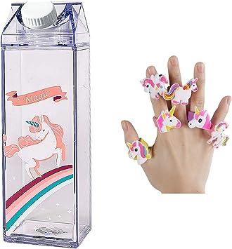 Amazon.com: Botella de agua de unicornio – Diseño de ...