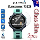 [2-Pack] Garmin Forerunner 735XT Tempred Glass LCD Screen Protector Film Guard for Garmin Forerunner 735XT Smart Watch