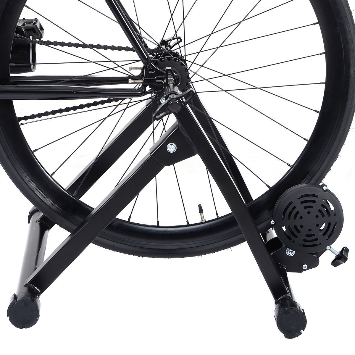 Goplus Portable Magnet Steel Bike/Bicycle Indoor Exercise Trainer Stand by Goplus (Image #4)