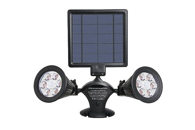Lumisky Dolby W31 Proyector doble foco Solar 12 LED exterior impermeable luz con sensor de movimiento