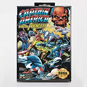 ROMGame Captain America And The Avengers Game Cartridge 16 Bit Md Game Card With Retail Box For Sega Mega Drive For Genesis