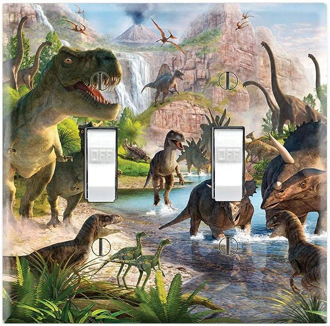 Graphics Wallplates Dinosaurs Majungasaurus Tyrannosaurus Double Toggle Wall Plate Cover
