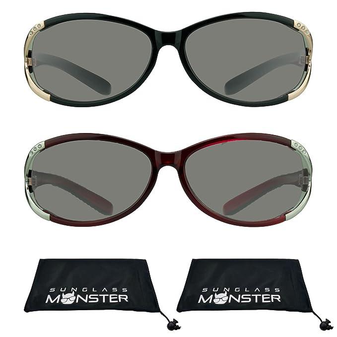 Amazon.com: Gafas de sol de lectura con brillantes tintados ...
