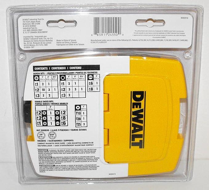 DeWalt DW2145 45-Piece Screwdriving Set - Screwdriver Bit Sets ...