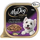 MY DOG Home Recipe Turkey Wet Dog Food 100g Tray, 12 Pack